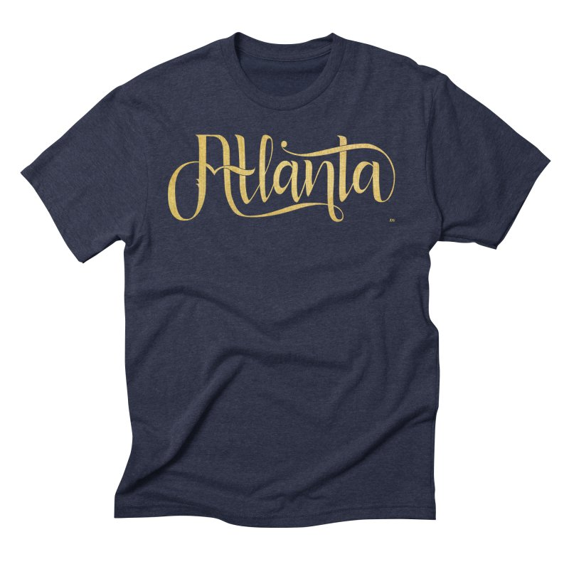 Golden Atlanta Men's Triblend T-Shirt by Andrea Garrido V - Shop