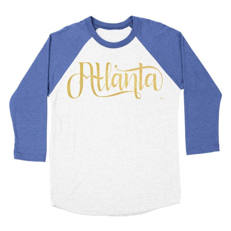 Golden Atlanta Women's Baseball Triblend Longsleeve T-Shirt by Andrea Garrido V - Shop