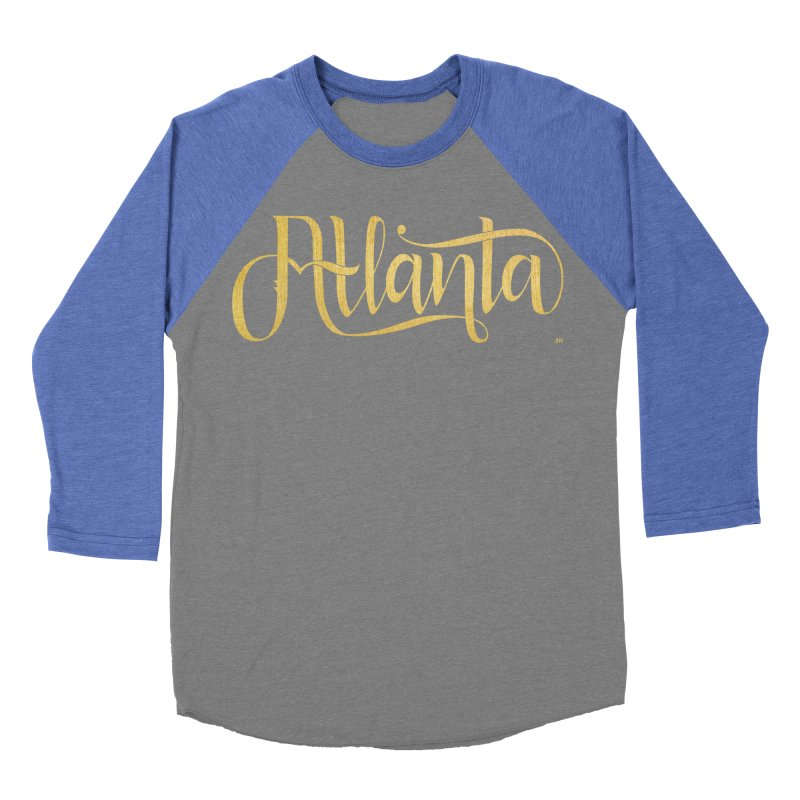 Golden Atlanta Women's Baseball Triblend Longsleeve T-Shirt by Andrea Garrido V - Shop