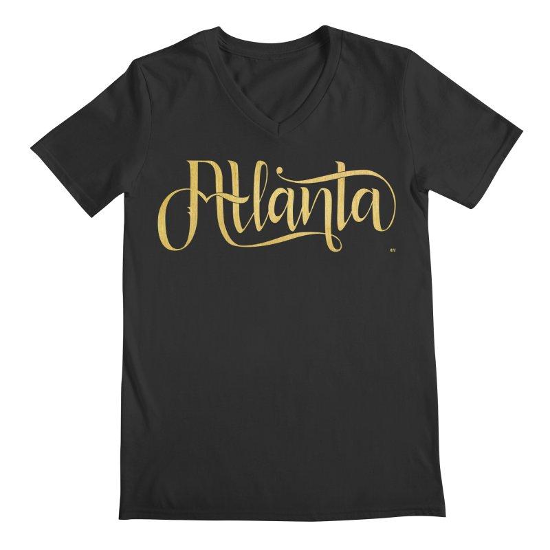 Golden Atlanta Men's Regular V-Neck by Andrea Garrido V - Shop