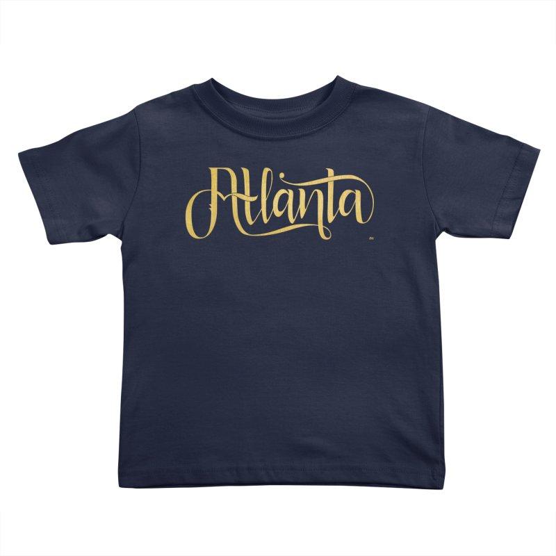 Golden Atlanta Kids Toddler T-Shirt by Andrea Garrido V - Shop