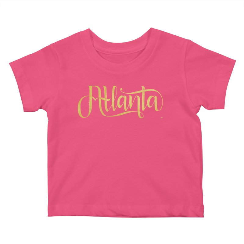 Golden Atlanta Kids Baby T-Shirt by Andrea Garrido V - Shop