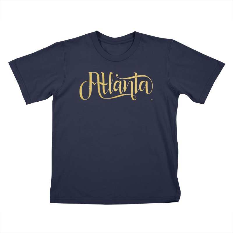 Golden Atlanta Kids T-Shirt by Andrea Garrido V - Shop