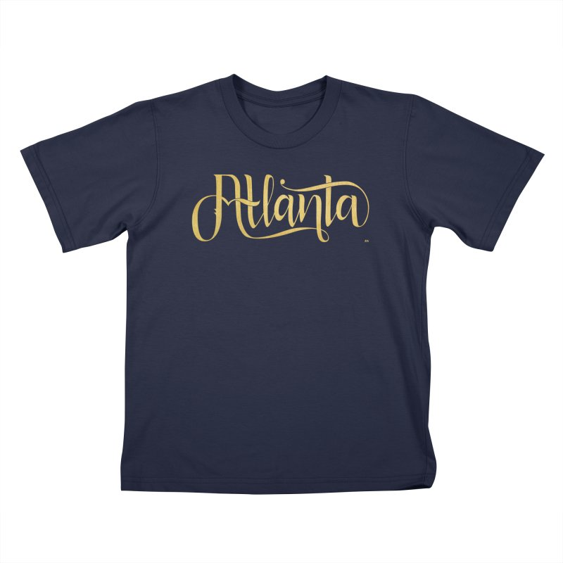 Golden Atlanta Kids T-Shirt by Andrea Garrido V - Shop