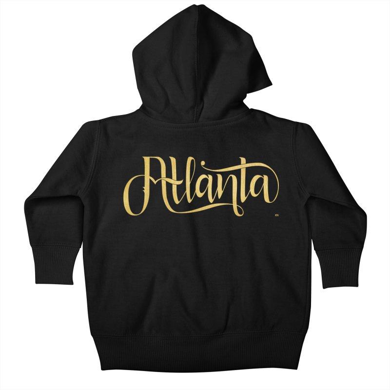 Golden Atlanta Kids Baby Zip-Up Hoody by Andrea Garrido V - Shop