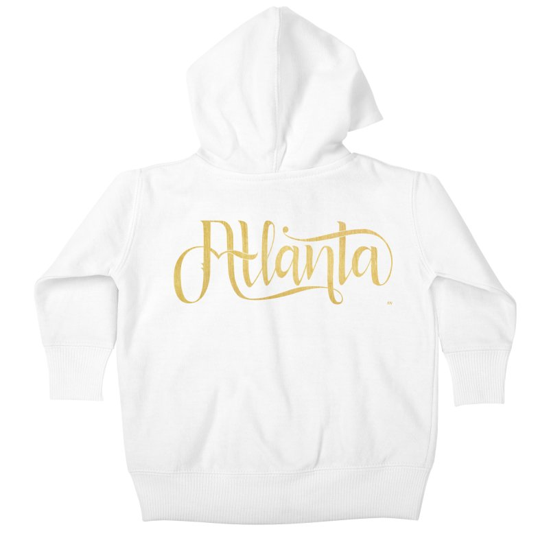 Golden Atlanta Kids Baby Zip-Up Hoody by Andrea Garrido V - Shop