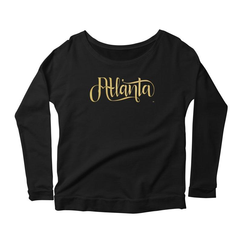Golden Atlanta Women's Scoop Neck Longsleeve T-Shirt by Andrea Garrido V - Shop