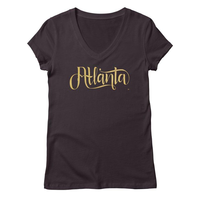 Golden Atlanta Women's Regular V-Neck by Andrea Garrido V - Shop