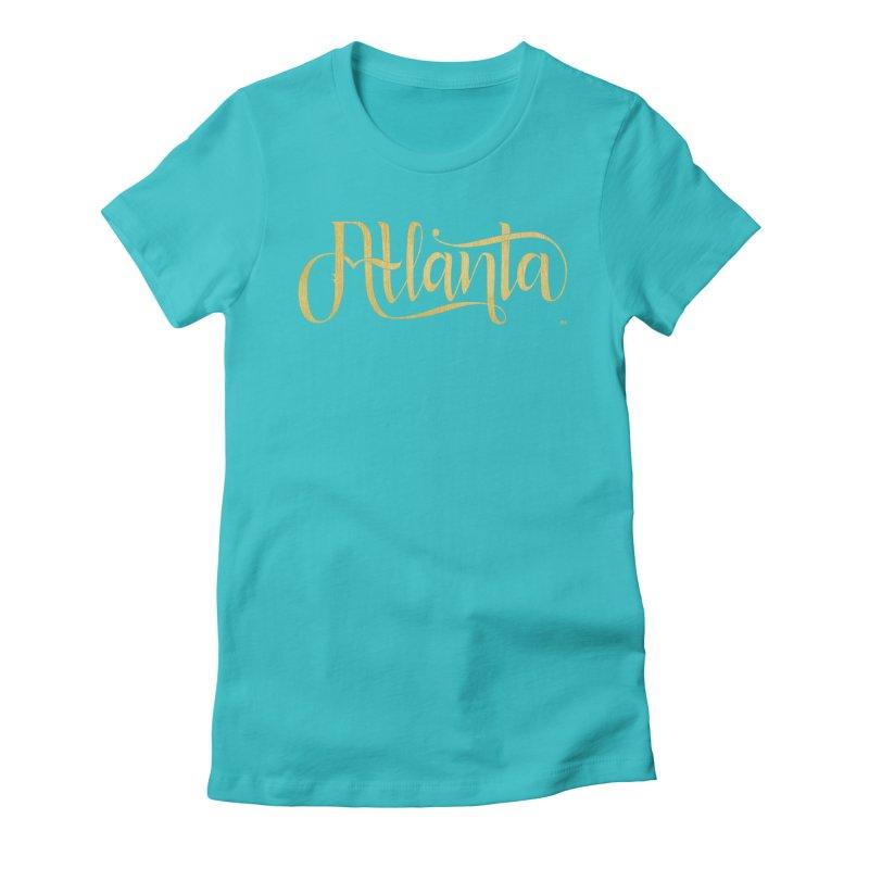 Golden Atlanta Women's Fitted T-Shirt by Andrea Garrido V - Shop
