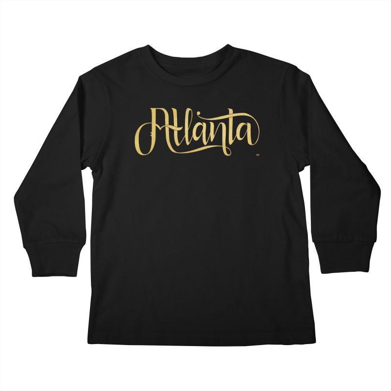 Golden Atlanta Kids Longsleeve T-Shirt by Andrea Garrido V - Shop
