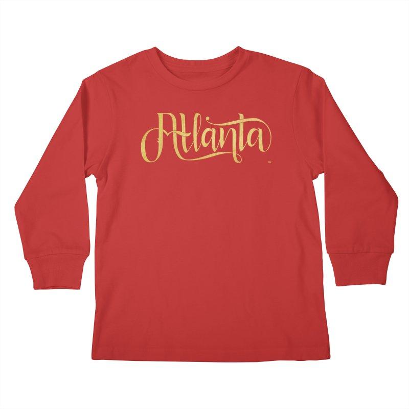 Golden Atlanta Kids Longsleeve T-Shirt by Andrea Garrido V - Shop