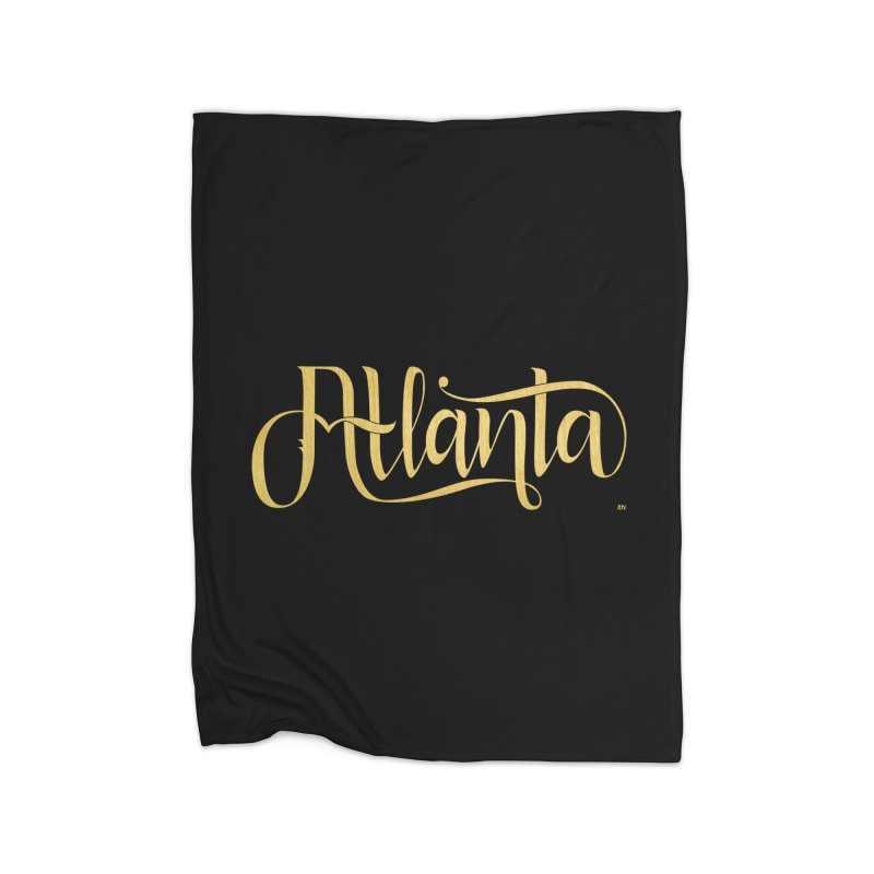 Golden Atlanta Home Fleece Blanket Blanket by Andrea Garrido V - Shop