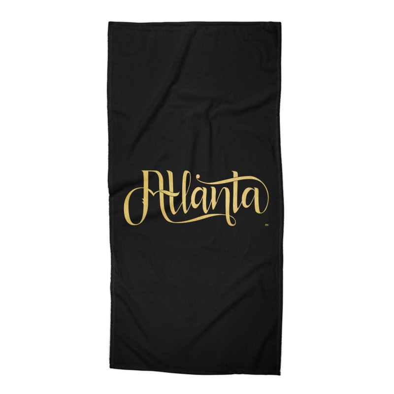Golden Atlanta Accessories Beach Towel by Andrea Garrido V - Shop