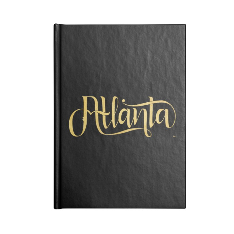 Golden Atlanta Accessories Blank Journal Notebook by Andrea Garrido V - Shop
