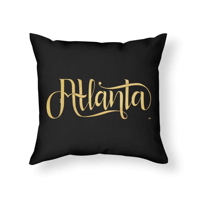 Golden Atlanta Home Throw Pillow by Andrea Garrido V - Shop