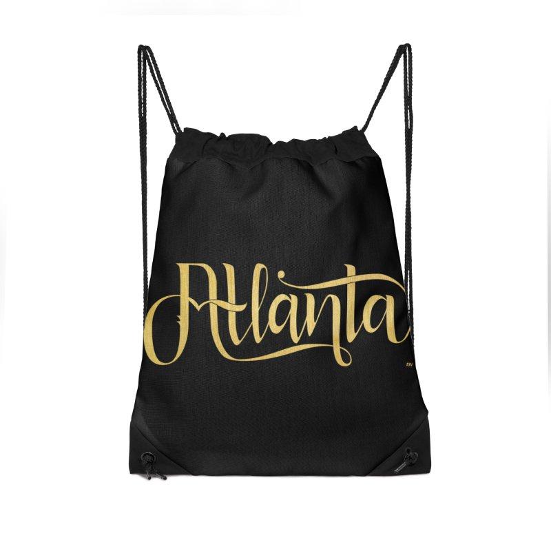 Golden Atlanta Accessories Drawstring Bag Bag by Andrea Garrido V - Shop
