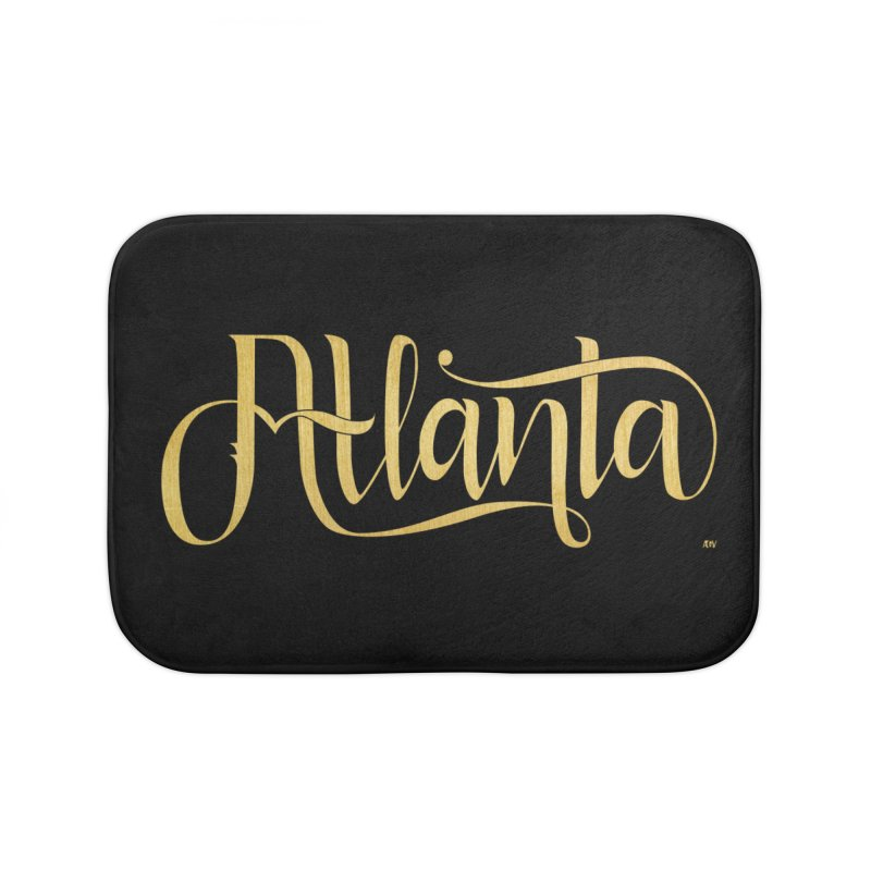 Golden Atlanta Home Bath Mat by Andrea Garrido V - Shop