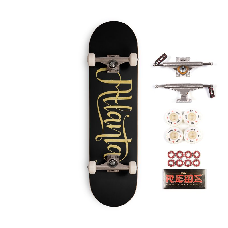Golden Atlanta Accessories Complete - Pro Skateboard by Andrea Garrido V - Shop