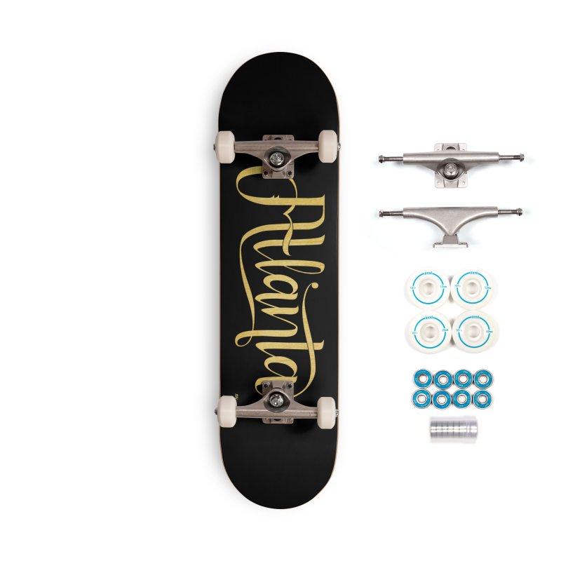 Golden Atlanta Accessories Complete - Basic Skateboard by Andrea Garrido V - Shop