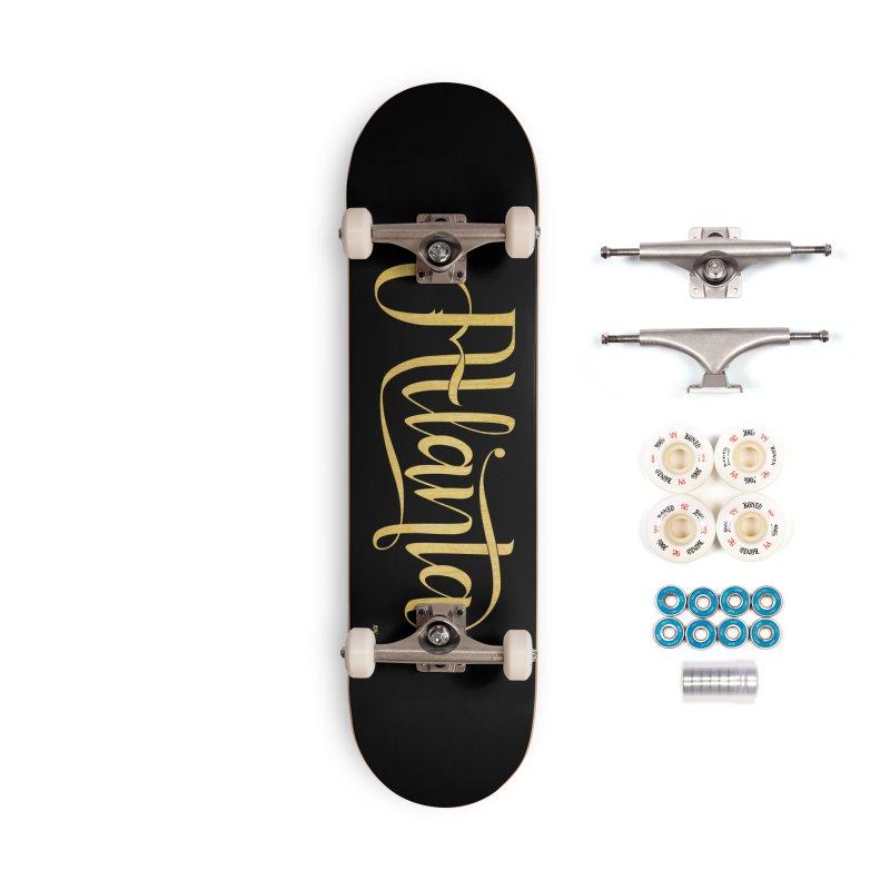 Golden Atlanta Accessories Complete - Premium Skateboard by Andrea Garrido V - Shop