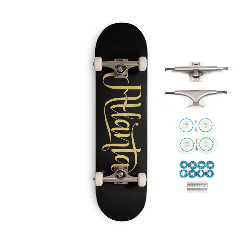 Golden Atlanta Accessories Skateboard by Andrea Garrido V - Shop