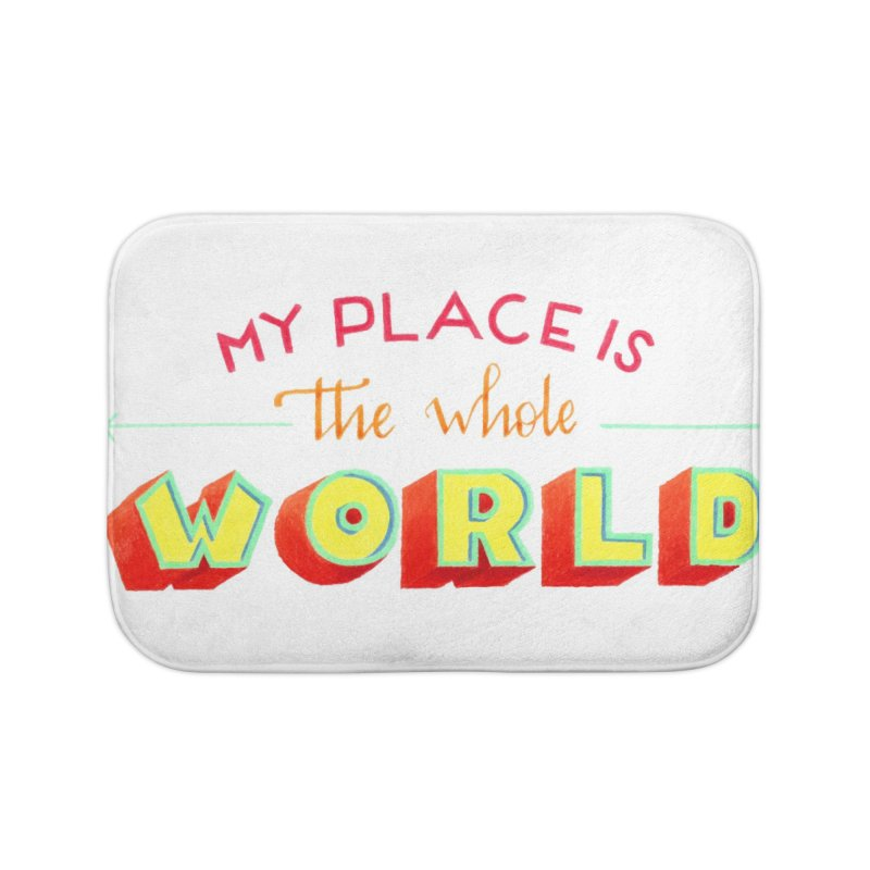 The whole world Home Bath Mat by Andrea Garrido V - Shop