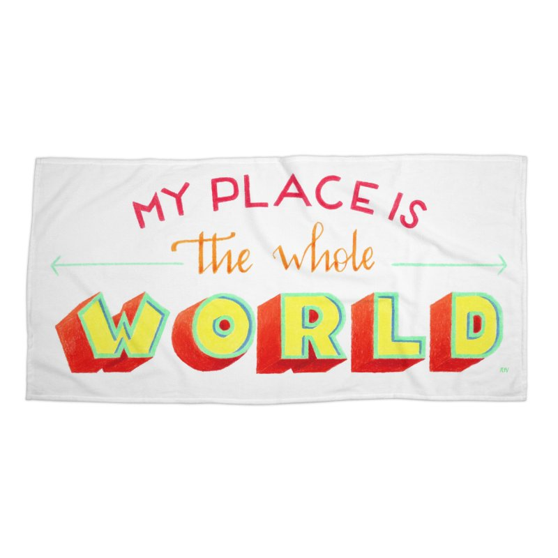 The whole world Accessories Beach Towel by Andrea Garrido V - Shop