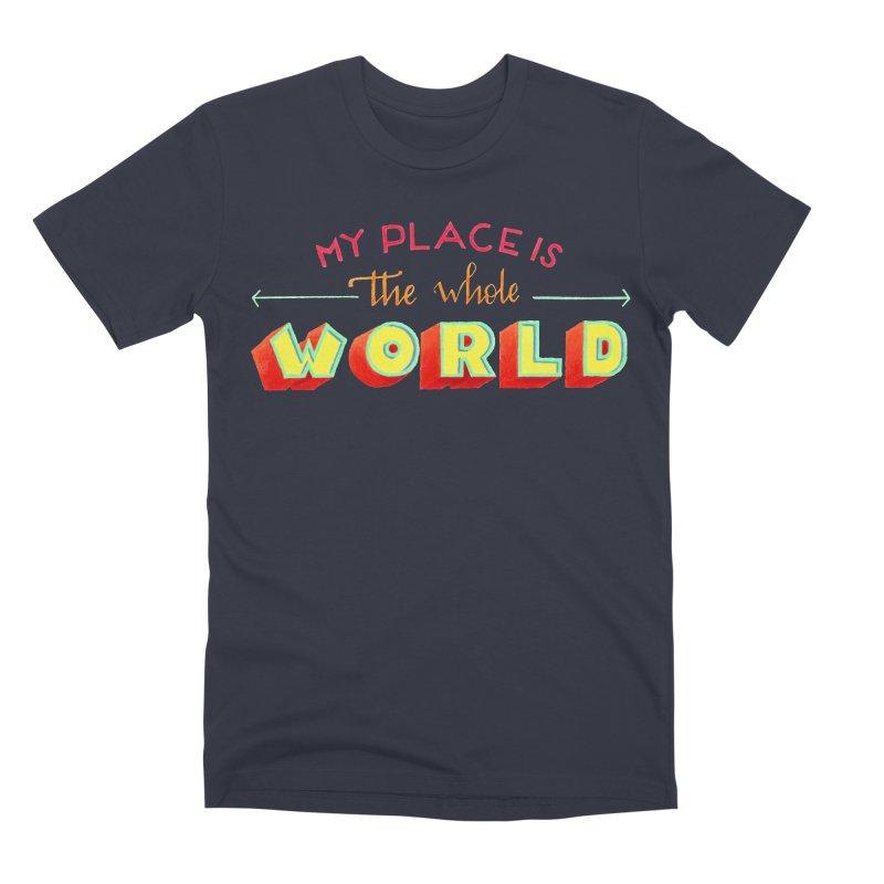 The whole world Men's Premium T-Shirt by Andrea Garrido V - Shop
