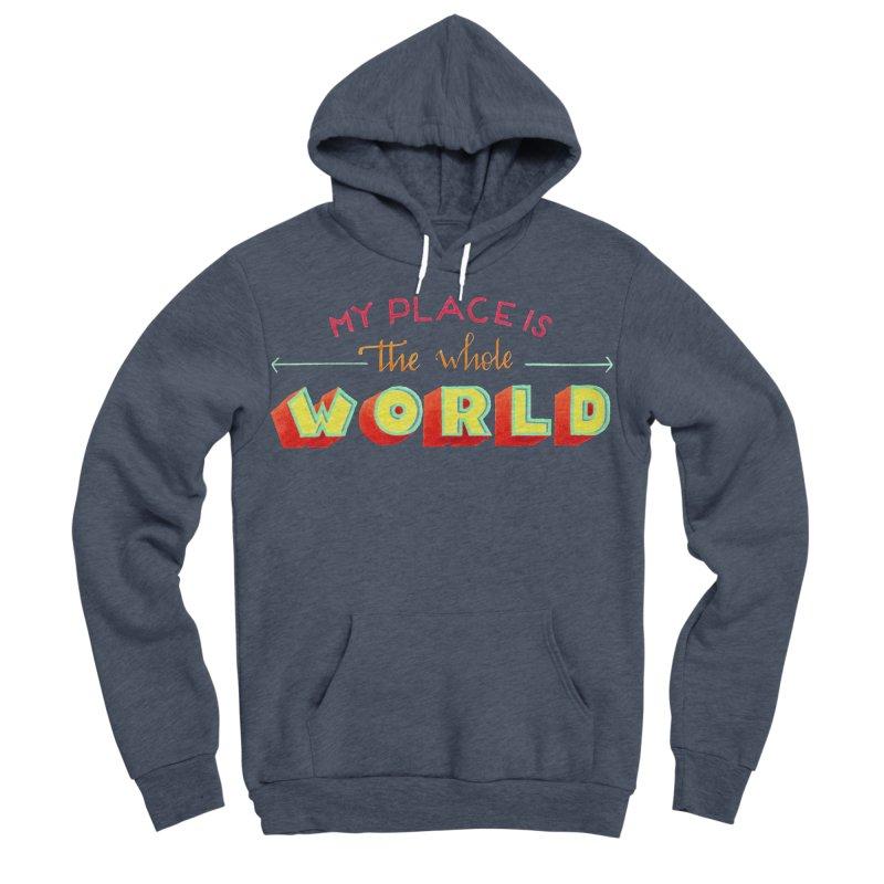 The whole world Women's Sponge Fleece Pullover Hoody by Andrea Garrido V - Shop