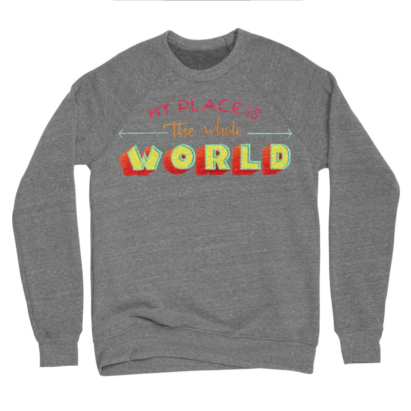 The whole world Men's Sponge Fleece Sweatshirt by Andrea Garrido V - Shop