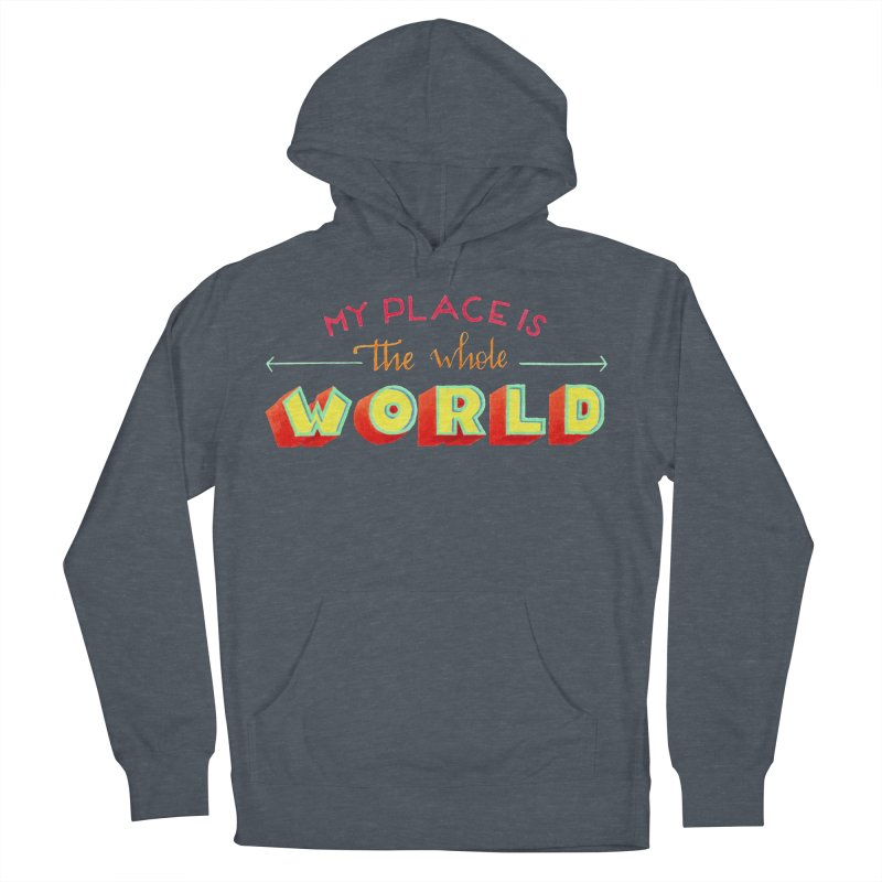 The whole world Women's French Terry Pullover Hoody by Andrea Garrido V - Shop