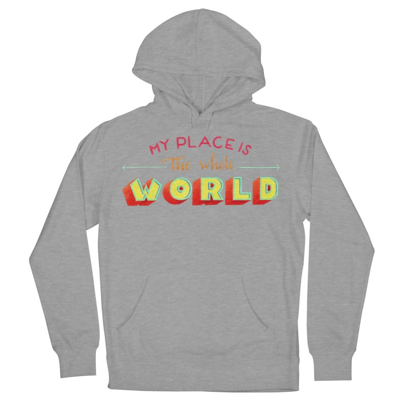 The whole world Men's French Terry Pullover Hoody by Andrea Garrido V - Shop