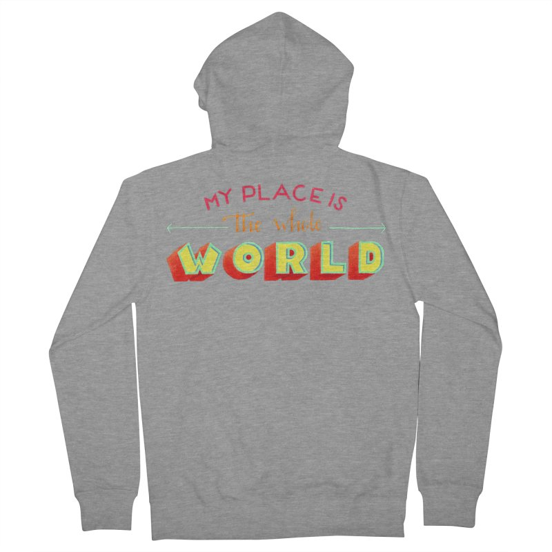 The whole world Women's French Terry Zip-Up Hoody by Andrea Garrido V - Shop