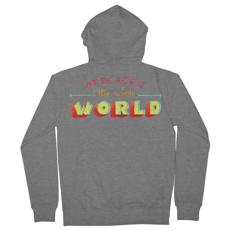 The whole world Men's French Terry Zip-Up Hoody by Andrea Garrido V - Shop