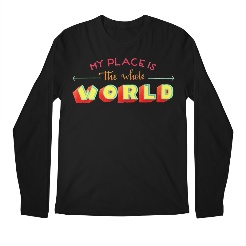 The whole world Men's Regular Longsleeve T-Shirt by Andrea Garrido V - Shop