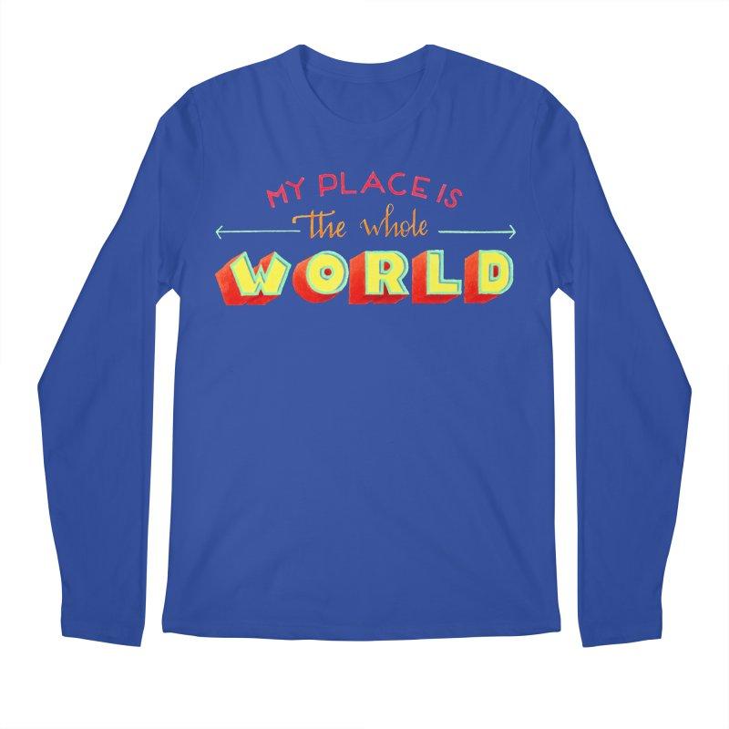 The whole world Men's Regular Longsleeve T-Shirt by Andrea Garrido V - Shop