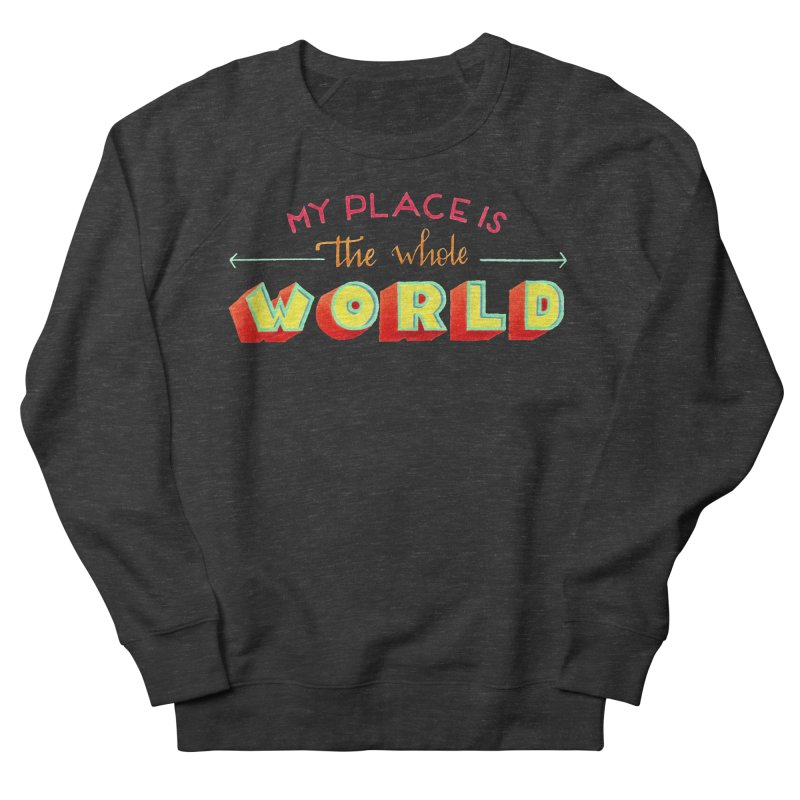 The whole world Women's French Terry Sweatshirt by Andrea Garrido V - Shop