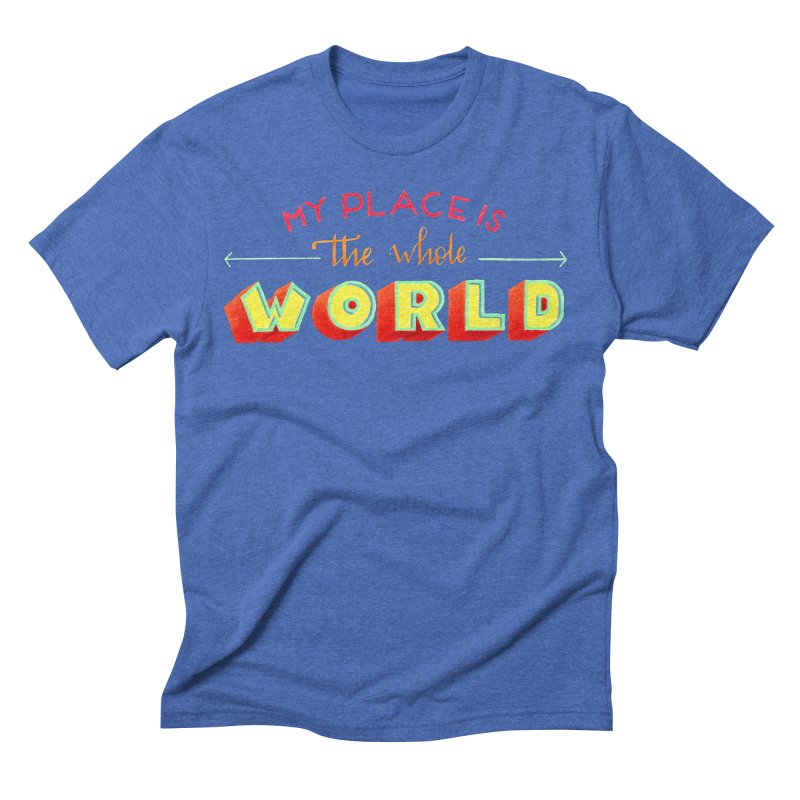 The whole world Men's Triblend T-Shirt by Andrea Garrido V - Shop