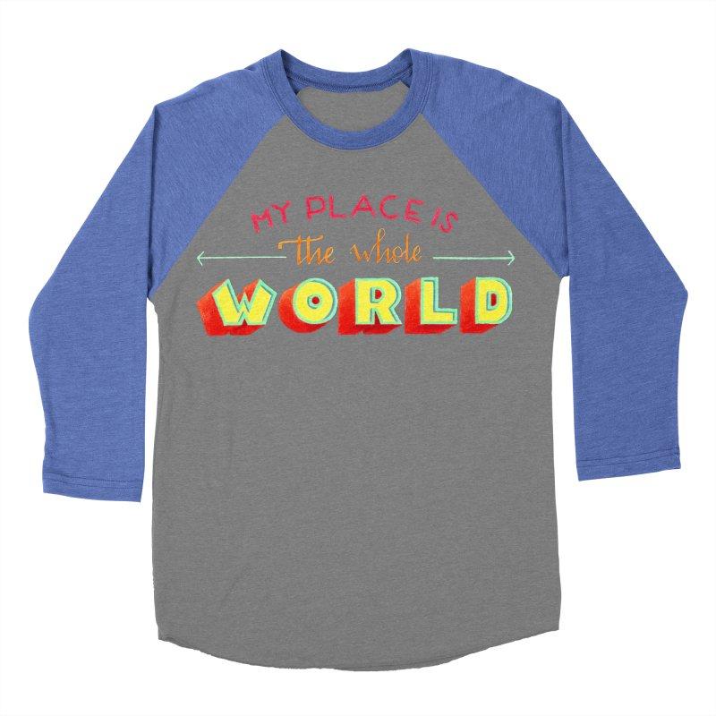 The whole world Women's Baseball Triblend Longsleeve T-Shirt by Andrea Garrido V - Shop