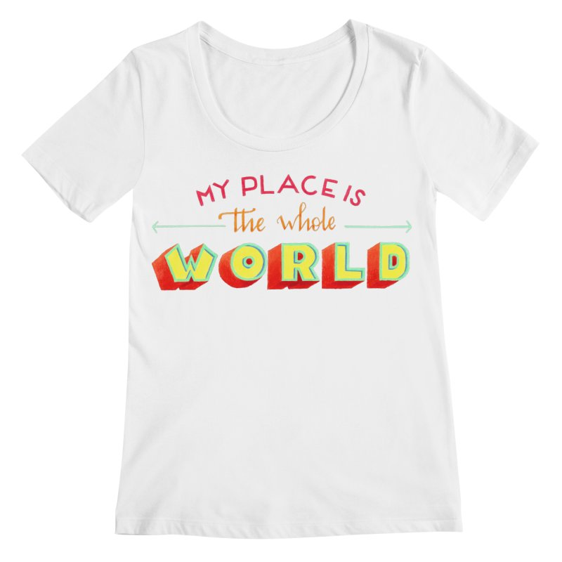 The whole world Women's Regular Scoop Neck by Andrea Garrido V - Shop