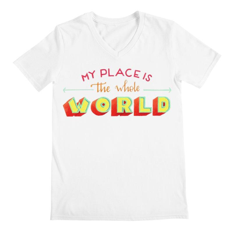 The whole world Men's Regular V-Neck by Andrea Garrido V - Shop