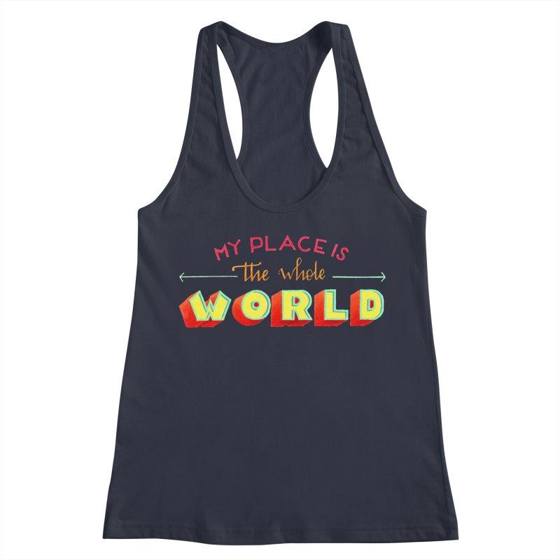 The whole world Women's Racerback Tank by Andrea Garrido V - Shop