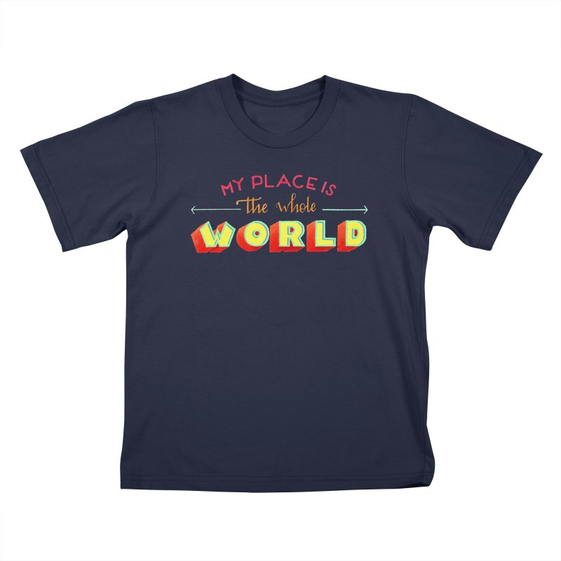 The whole world Kids T-Shirt by Andrea Garrido V - Shop