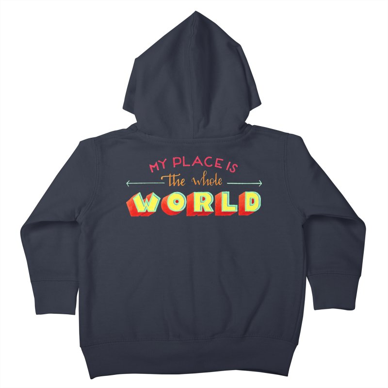 The whole world Kids Toddler Zip-Up Hoody by Andrea Garrido V - Shop