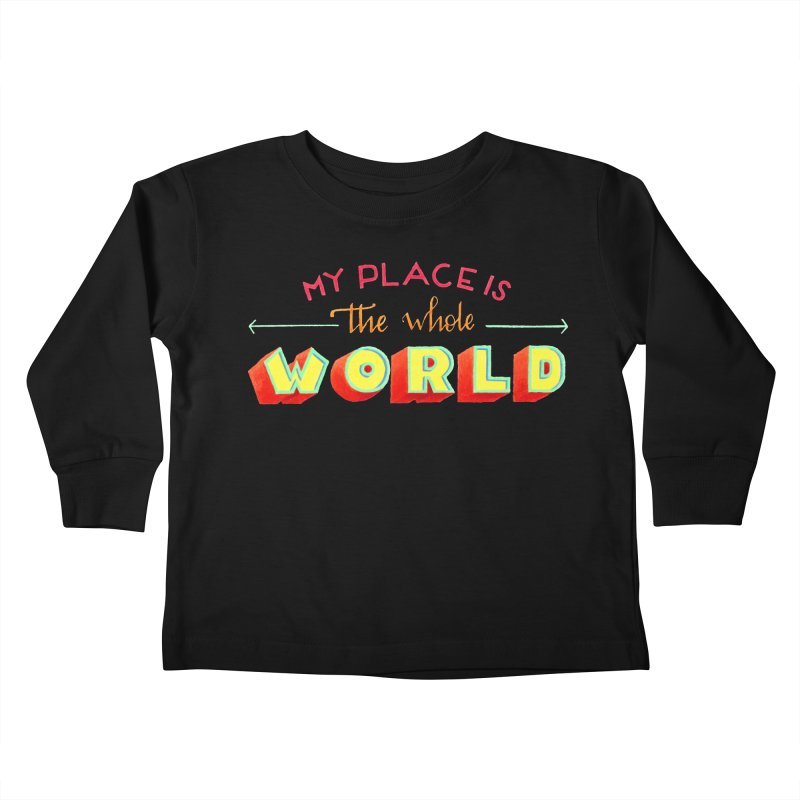 The whole world Kids Toddler Longsleeve T-Shirt by Andrea Garrido V - Shop
