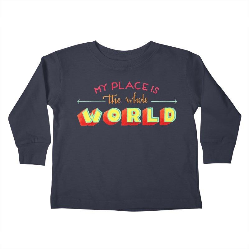 The whole world Kids Toddler Longsleeve T-Shirt by Andrea Garrido V - Shop