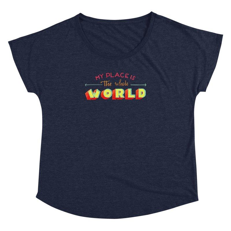 The whole world Women's Dolman Scoop Neck by Andrea Garrido V - Shop