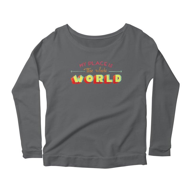 The whole world Women's Scoop Neck Longsleeve T-Shirt by Andrea Garrido V - Shop