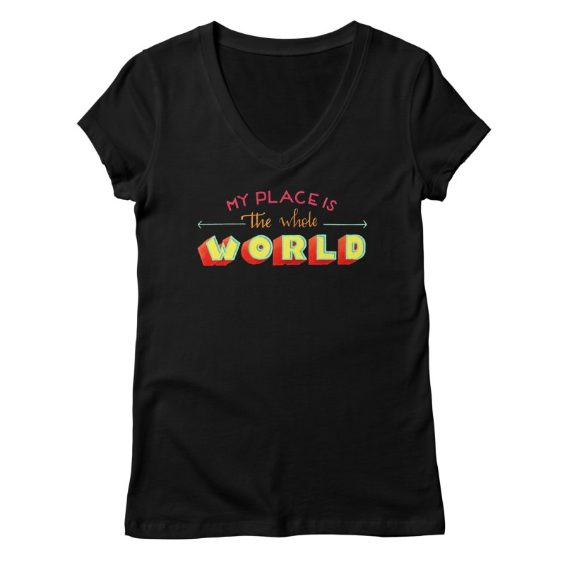 The whole world Women's Regular V-Neck by Andrea Garrido V - Shop
