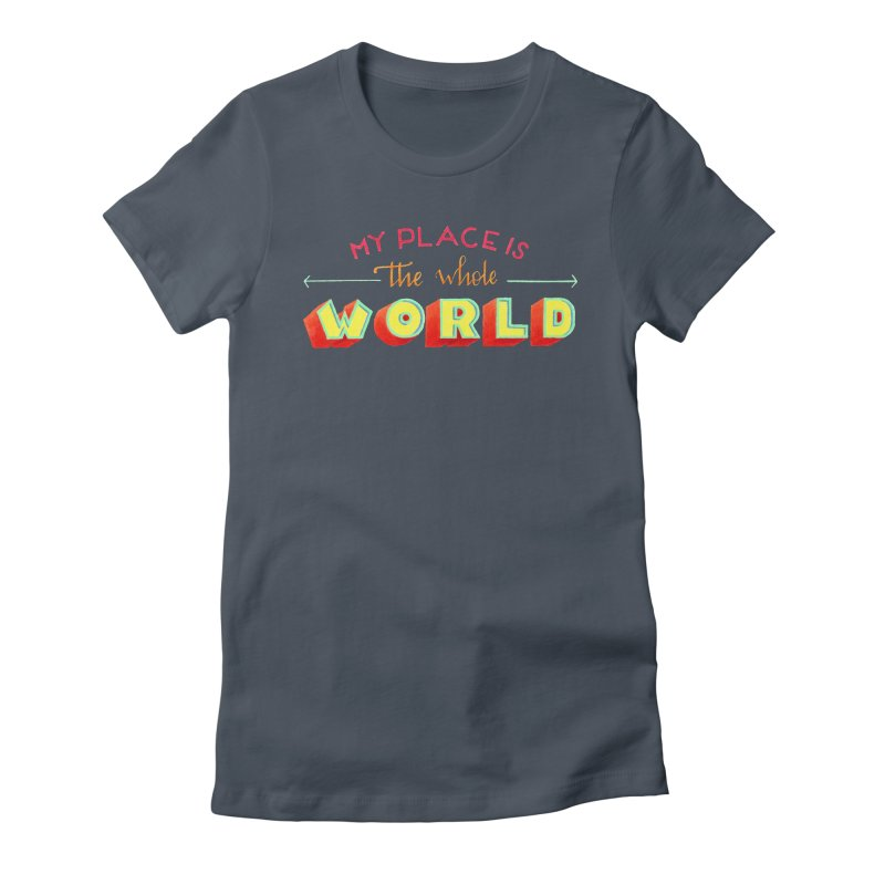 The whole world Women's Fitted T-Shirt by Andrea Garrido V - Shop